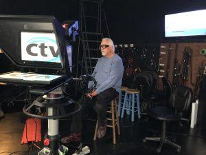 CTV member operates camera for CTV's PSA Day.